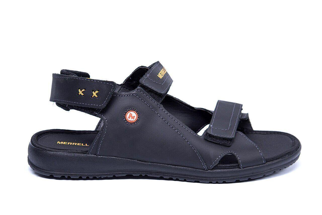 Мужские кожаные сандалии Merrell Black .