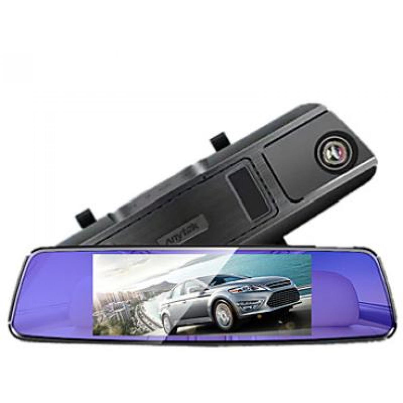 Зеркало-регистратор Anytek T77 1080p видеорегистратор  автомобильный угол обзора 170° + камера заднего вида