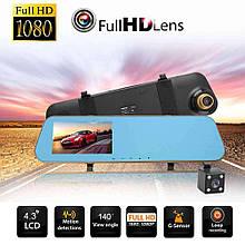 Дзеркало відеореєстратор мультимедійний Anytek N8 4.3 реєстратор дзеркало DVR камера заднього виду