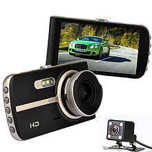 Відеореєстратор DVR T653+ FULL HD метал з додатковою камерою відеореєстратор Full HD на 2 камери