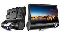 Видеорегистратор DVR T655 3 камеры HDR LCD 4.0 Full Hd авторегистратор в машину многофункциональный