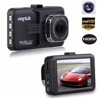 """Авторегистратор видеорегистратор Anytek A-18 крепление на присоске 1 камера 3"""" Full HD 12 Мп датчик удара"""