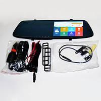 """Авторегистратор зеркало DVR L1001C Full HD 5"""" 2 камеры сенсор видеорегистратор на зеркало"""