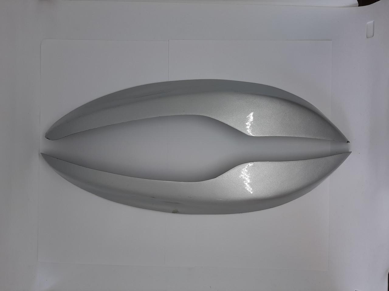 Накладки (реснички) на передние фары Нива Шевроле 2123 (серого цвета)