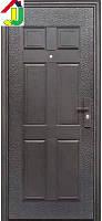 Двері вхідні Супер Економ Метал/Метал Ліва 860Х2050 мм порошкове фарбування, для Офісу, для Гуртожитків і Вдома