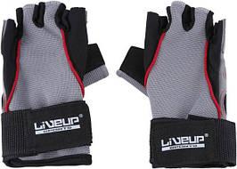 Рукавички LiveUp Training Gloves Black-Grey-Red (LS3071-SM)