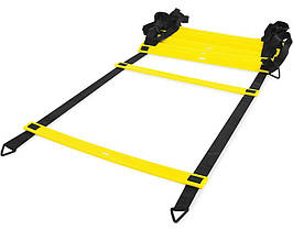 Драбинка LiveUp Agility Ladder координаційна 8 м Black-Yellow (LS3671-8)