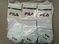 Женские хлопковые короткие носки FILA упаковка 12 пар разные цвета