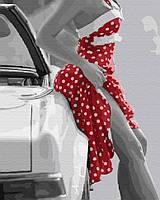 """Картина по номерам, Brushme """"Платье в горошек"""" GX32344"""