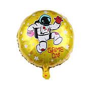 """Фольгированные шары с рисунком 18"""" """"Космонавт Game On!""""   Китай"""