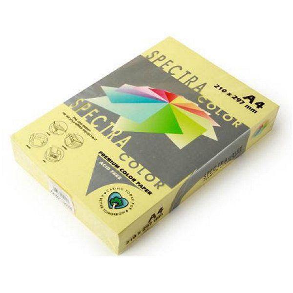 Бумага цветная А4,п.80,500л., пастельная SINAR SPECTRA Canary 115 (светло-желтый))