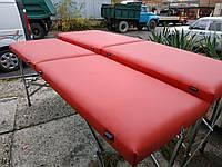 Косметологическая кушетка / Кушетка для массажа чемодан. 185х60 см. Эко-кожа Украина, Эконом