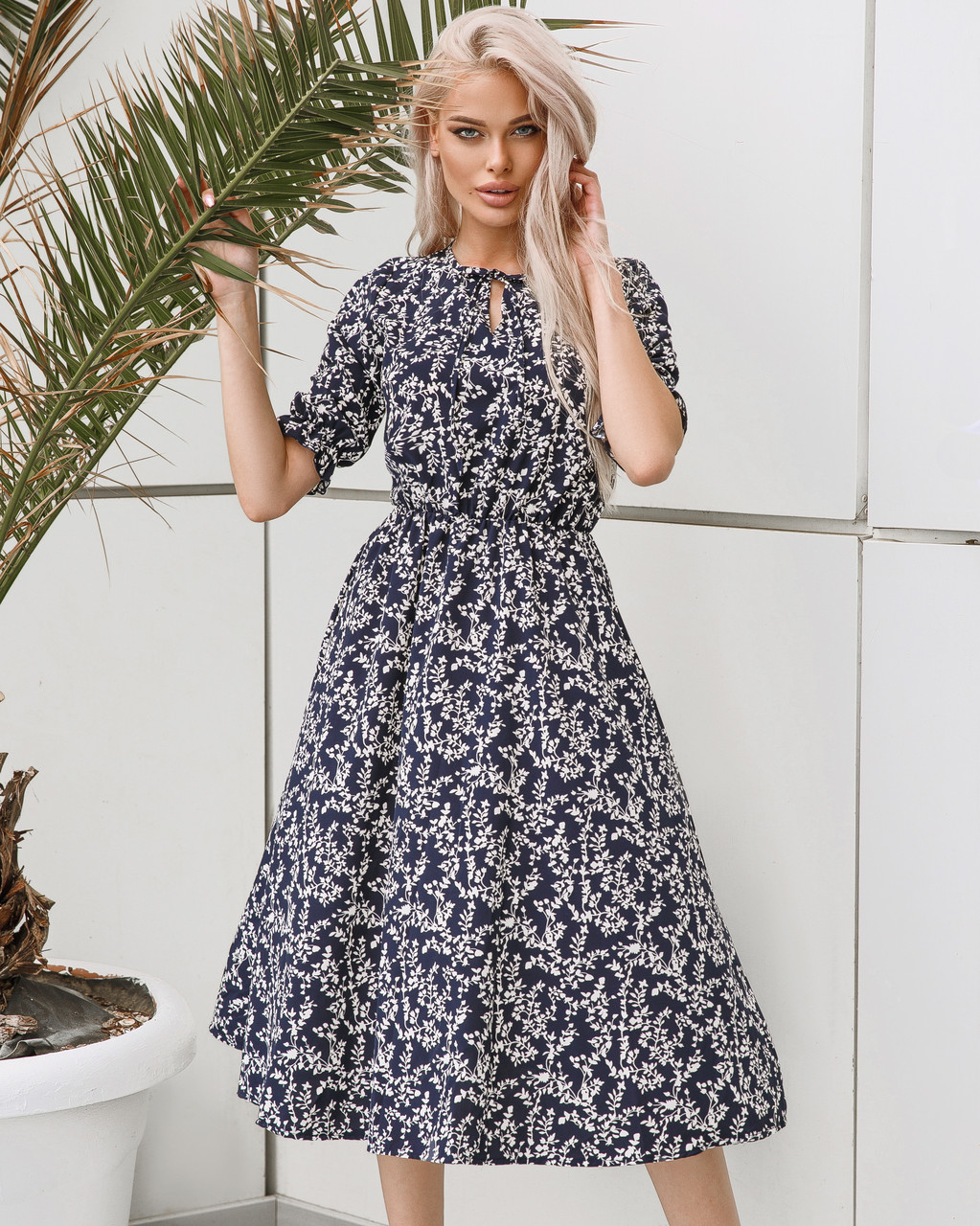 Женское платье миди Синий