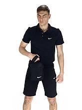 Мужской летний комплект в стиле Nike (шорты и тениска), БАРСЕТКА в подарок