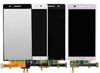 Дисплей для Huawei Ascend P6-U06, модуль в сборе (экран и сенсор), оригинал