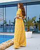 Женское платье в пол Желтый, фото 2