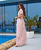 Женское платье в пол Пудровый, фото 2