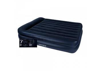 Intex 64122, надувная кровать со встроенным электронасосом