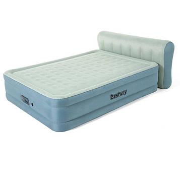 Bestway 69060, надувная кровать с изголовьем 229x152x43(79) см