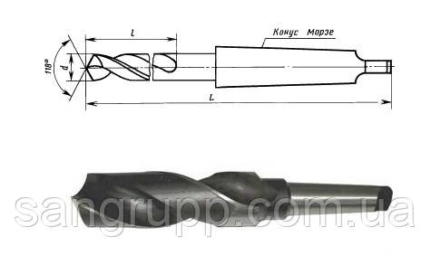 Сверло к/х 80 мм средняя серия Р6М5