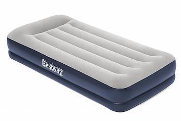 Bestway 67725, надувная кровать с подголовником 203х152х36 см