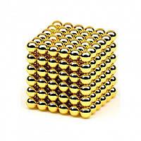 Магнитный конструктор головоломка Неокуб / NeoCube 216 шариков по 5 мм, цвет золотой! Топ Продаж PR3