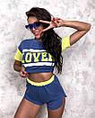 Женский костюм кроп-топ и шорты с высокой посадкой в стиле спорт шик, фото 4