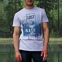 Мужские футболки светлые с рисунком LOST IN NATURE