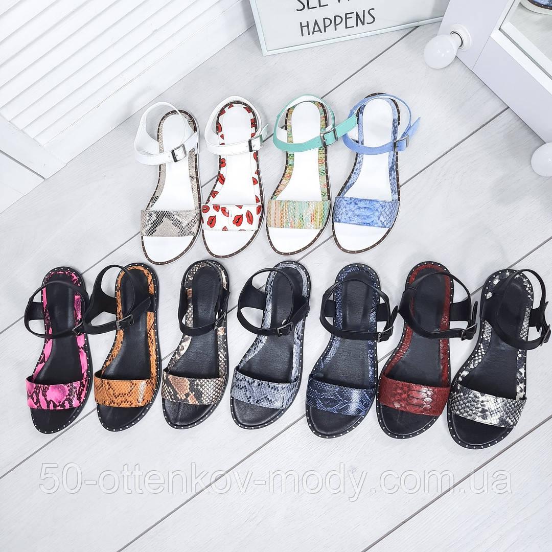 Женские шикарные сандалии босоножки из натуральной кожи