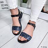 Женские шикарные сандалии босоножки из натуральной кожи, фото 2