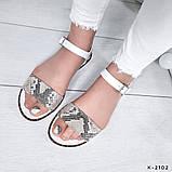 Женские шикарные сандалии босоножки из натуральной кожи, фото 6