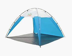Пляжний Тент Green Camp 1045 розмір 220*220 см висота 160 см