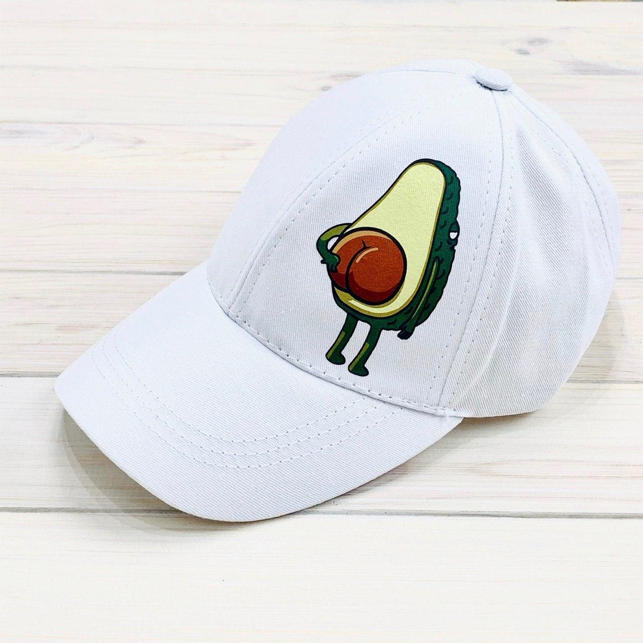 Женская Кепка с принтом Avocado белая Intruder
