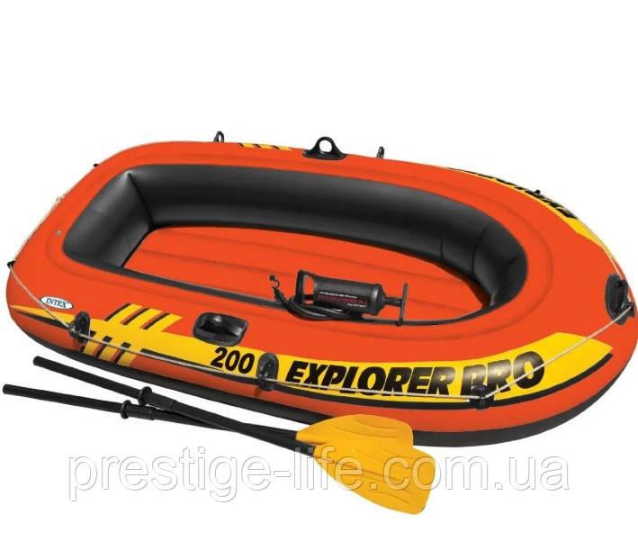 Лодка надувная двухместная Intex 58357 Explorer 200 Pro (196*102*33 см) с насосом и веслами, до 120 кг
