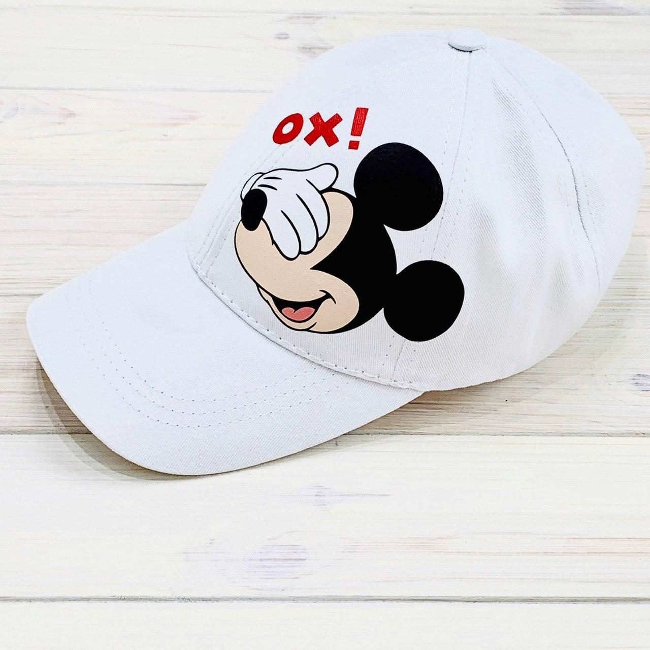Женская Кепка с принтом Mickey Mouse микки маус белая Intruder