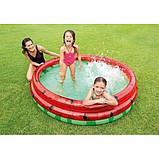 Детский надувной бассейн Intex 58448 «Арбуз», 168 х 38 см, фото 2