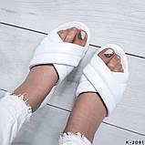 Жіночі шльопанці з натуральної шкіри з тисненням, фото 5