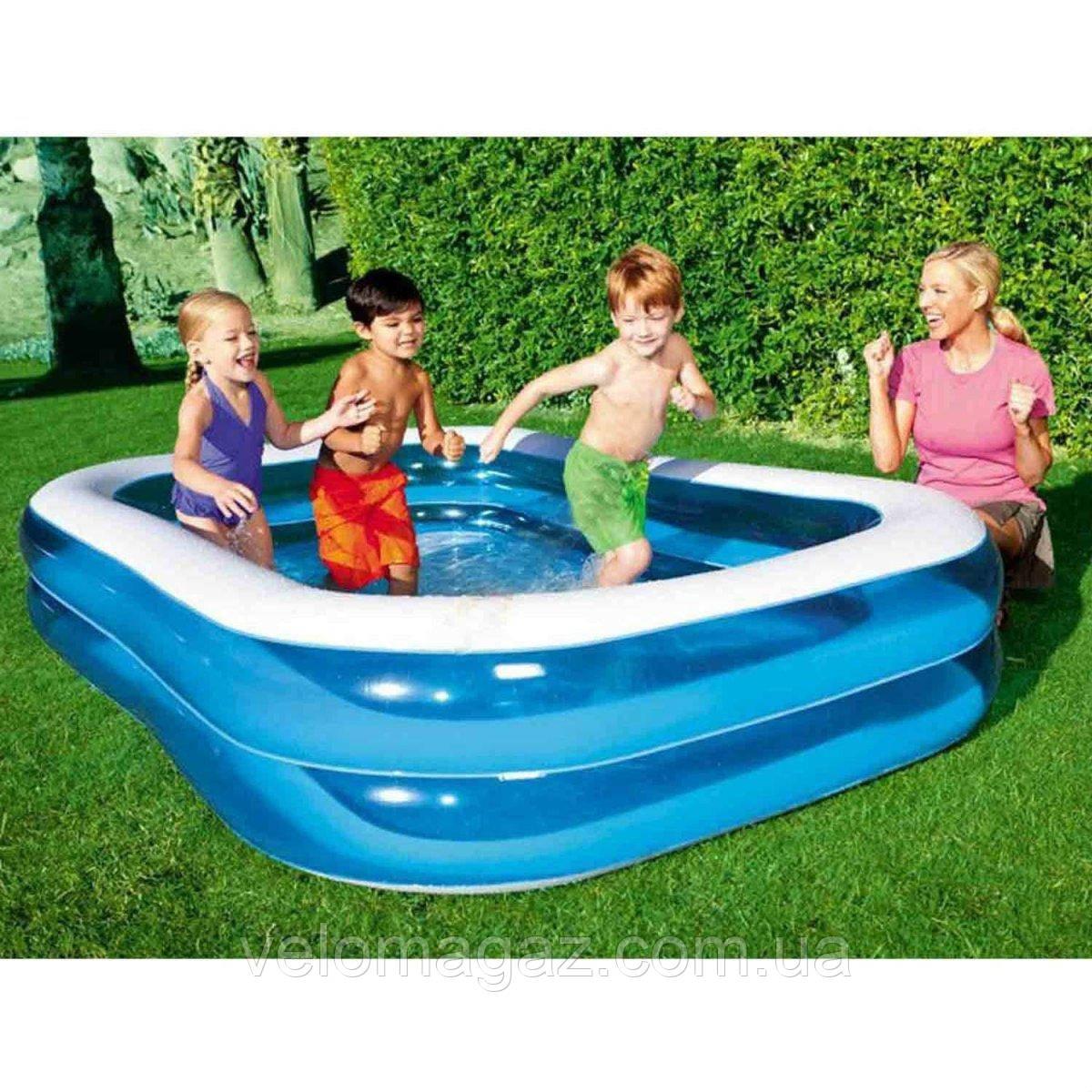 Сімейний надувний басейн 262*175*51 см, Bestway 54006, 2 кільця