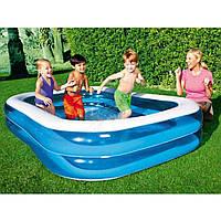 Сімейний надувний басейн 262*175*51 см, Bestway 54006, 2 кільця, фото 1