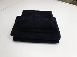 Рушник махровий, Чорний (Особа 50/90см)