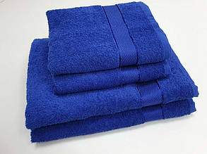 Полотенце махровое 40*70Аиша Синий .