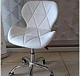 """Крісло для майстра манікюру """"Нью Стар"""" м'яке, чорне ,біле , сіре ., фото 3"""