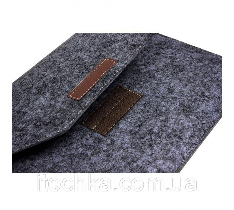 Чохол-кишеня з фетру для MacBook 13 Black