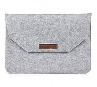Чохол-кишеня з фетру для MacBook 13/15 Gray, фото 1