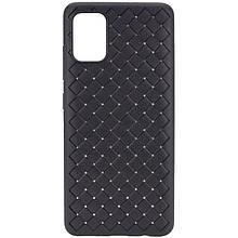 PU чехол-накладка Epik Weaving series для Samsung Galaxy A41