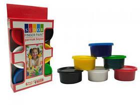 """Пальчиковая краска """"Люкс"""" 6 цветов Play Toys SD822 ( TC112114)"""