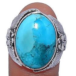 Серебряное кольцо с бирюзой Аризонской, 2374КЦБ