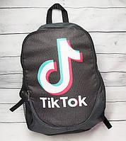 Рюкзак молодежный TikTok (ТикТок), цвет черный с серым  ( код: IBR112BO ), фото 1