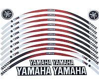 Наклейка на обід колеса Yamaha Red Black ОТРАЖАЙКА