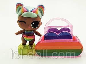 Кукла LOL Surprise Winter Disco Lil`s Rainbow Raver - Радуга Лол Сюрприз Без Шара Оригинал